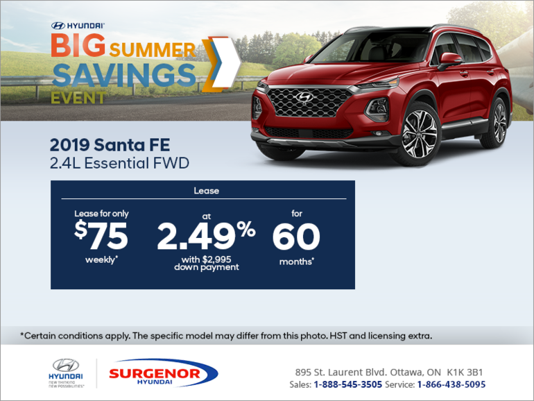 Lease the 2019 Sante Fe today!