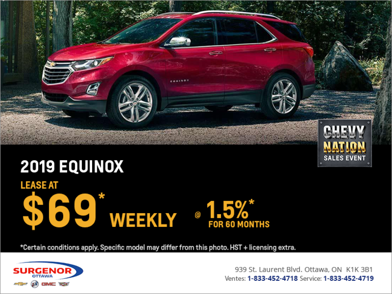 Lease the 2019 Chevrolet Equinox
