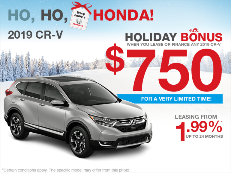 CR V Holiday Bonus