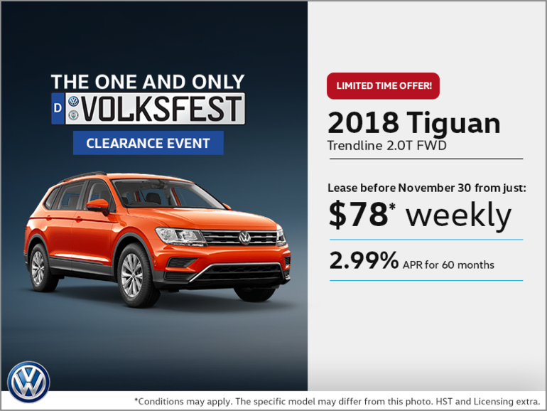 Get the 2018 Tiguan Today!