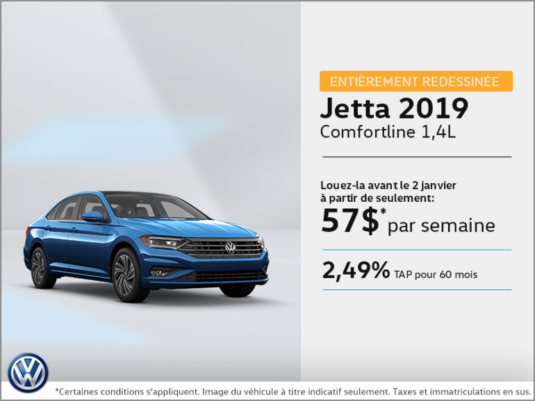 Louez la Jetta 2019 dès aujourd'hui!