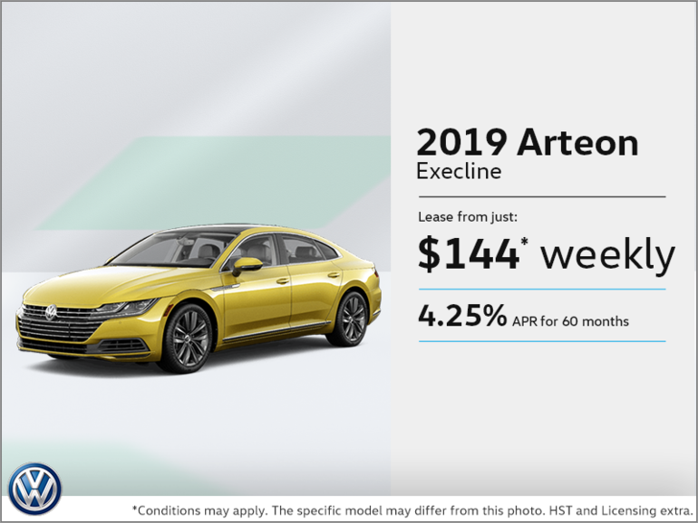 Lease the All-New Arteon 2019! | Volkswagen Waterloo