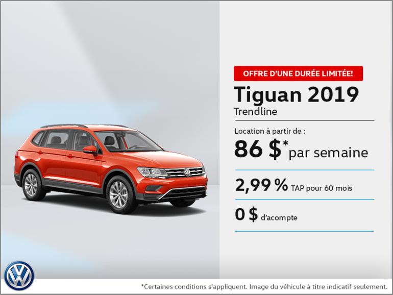 Louez la Tiguan 2019!