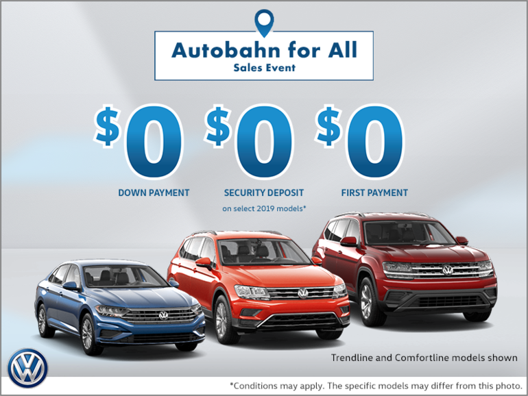 Autobahn for All Sales Event