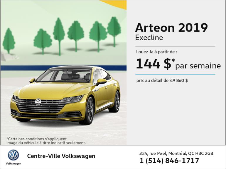 Louez l'Arteon 2019!