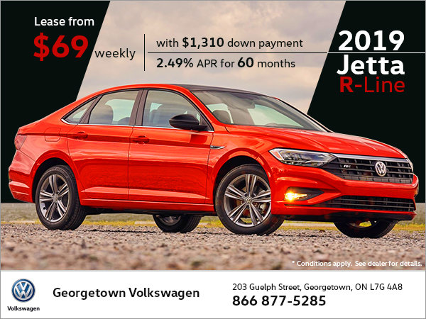 Exclusive deal on 2019 Jetta Highline with R-Line package