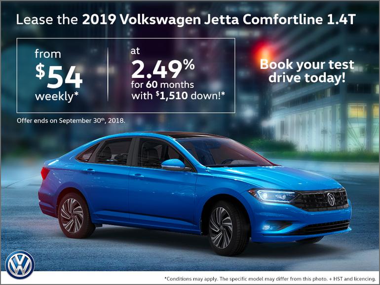 Exclusive deal on 2019 Jetta Comfortline
