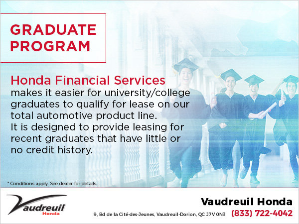 Graduate Program At Vaudreuil Honda Quebec