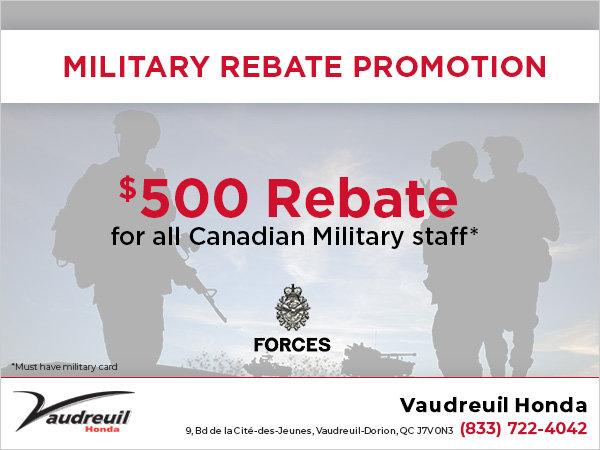 Military Rebate Promotion (Copy) (Copy)