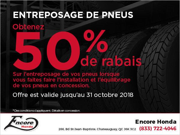 Entreposage de pneus