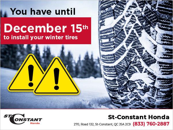 Winter Tire Warning!