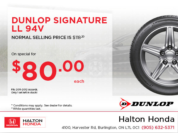 Save on Dunlop Signature!