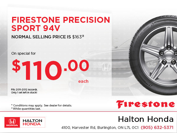 Save On Firestone Precision Sport!