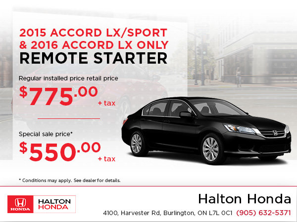 Save on a Remote Starter for Your Accord!
