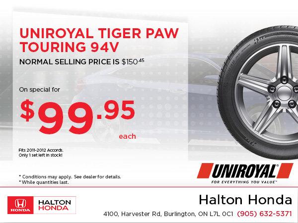 Save on Uniroyal Tiger Paw Touring!