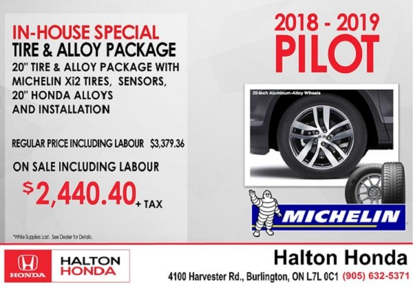 Pilot Tire & Alloy Package