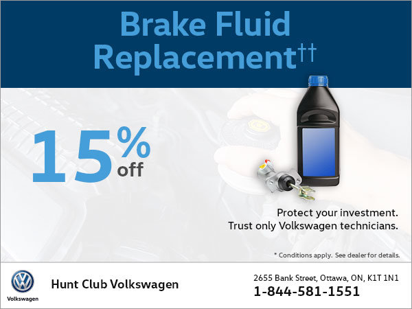 Get 15% Off a Brake Fluid Replacement!