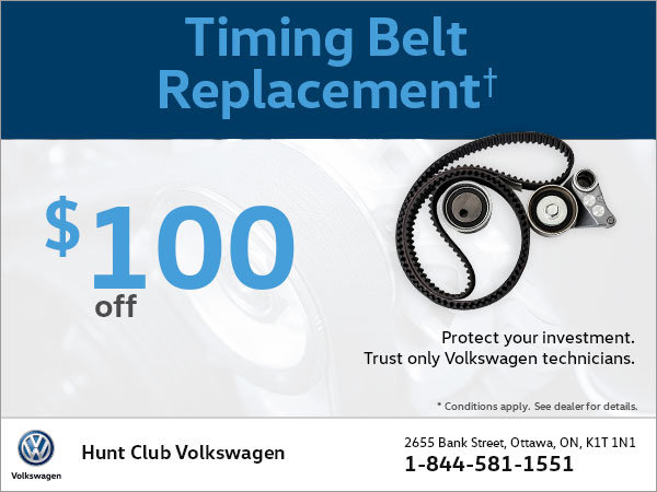 Get $100 Off Your Timing Belt Replacement!