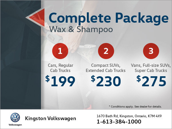 Get a Complete Wax and Shampoo Package!