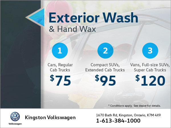 Get an Exterior Wash and Hand Wax!