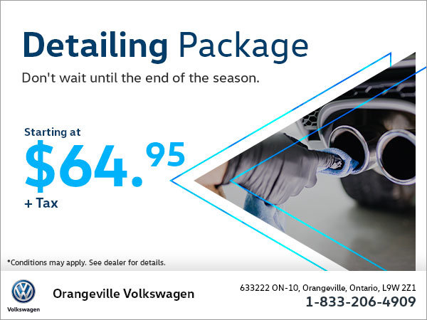 Get a Detailing Package Starting at $64.95!