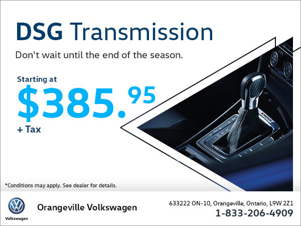 Get a DSG Transmission Starting at $385.95!