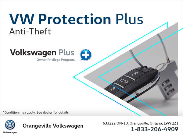 Get Anti-Theft Protection with Volkswagen Protection Plus!