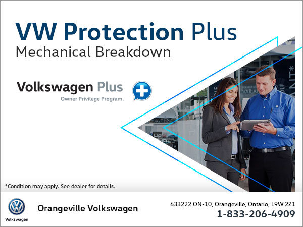 Get Mechanical Breakdown Protection with Volkswagen Protection Plus!