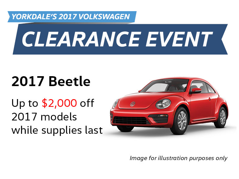 2017 Clearance Event: Beetle