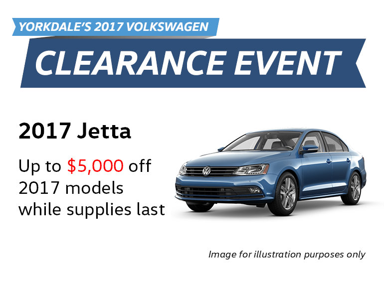 2017 Clearance Event: Jetta