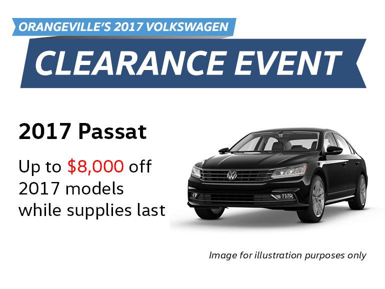 2017 Clearance Event: Passat