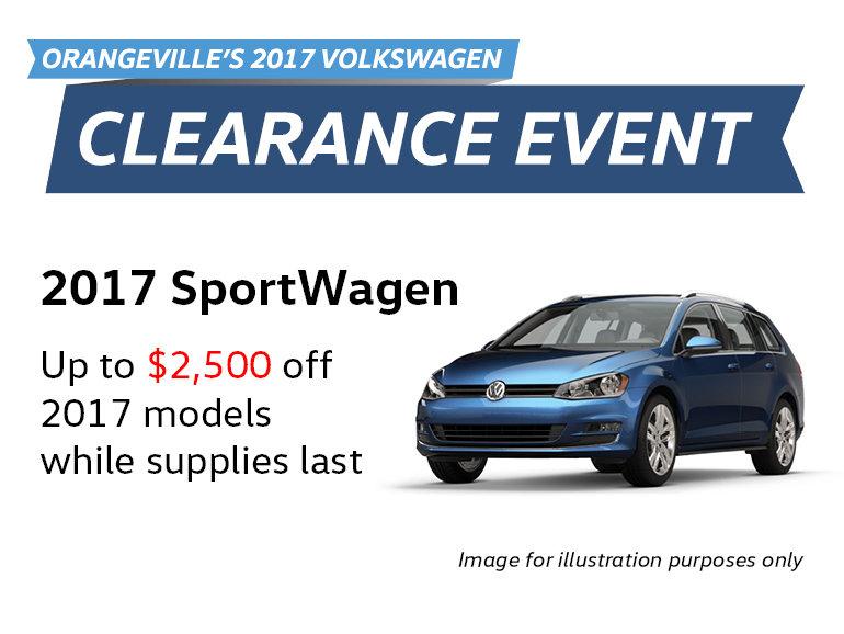 2017 Clearance Event: SportWagen