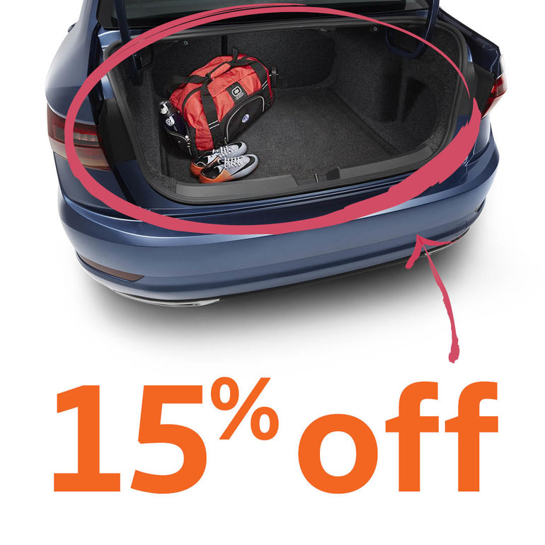 15% off all Volkswagen trunk liners