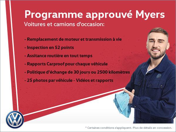 Programme approuvé Myers