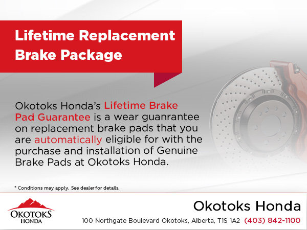 Lifetime Replacement Brake Package