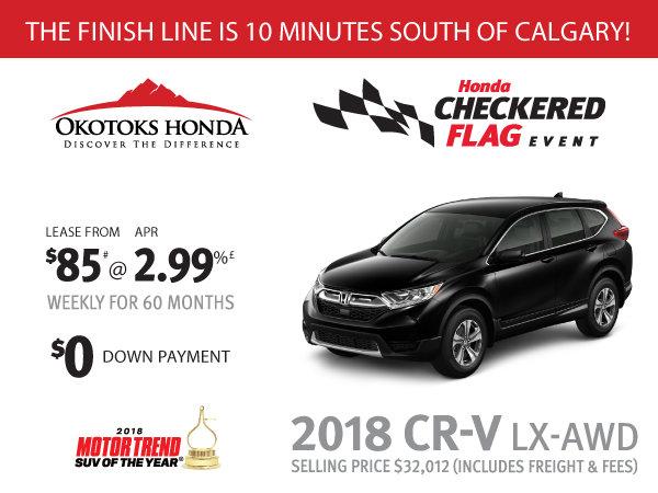 Honda CRV LX AWD at Okotoks Honda (South of Calgary)