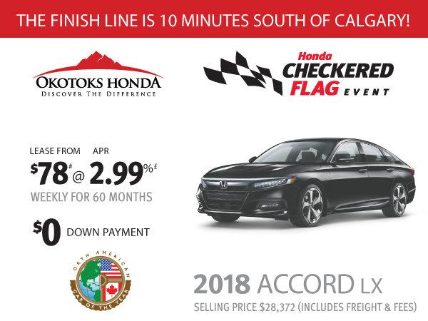 Honda Accord LX at Okotoks Honda (South of Calgary)