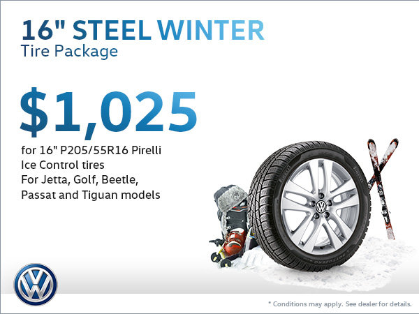 Get a Steel Winter Tire Package for $1,025!