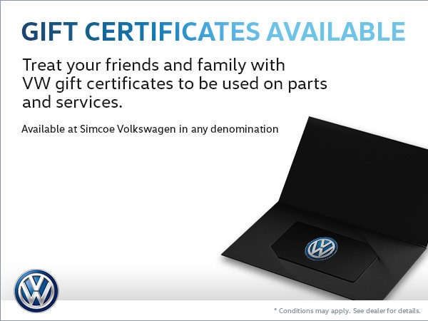 Treat Friends and Family to VW Gift Certificates!