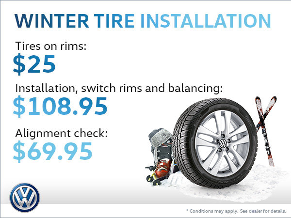 Get Your Winter Tires Installed!