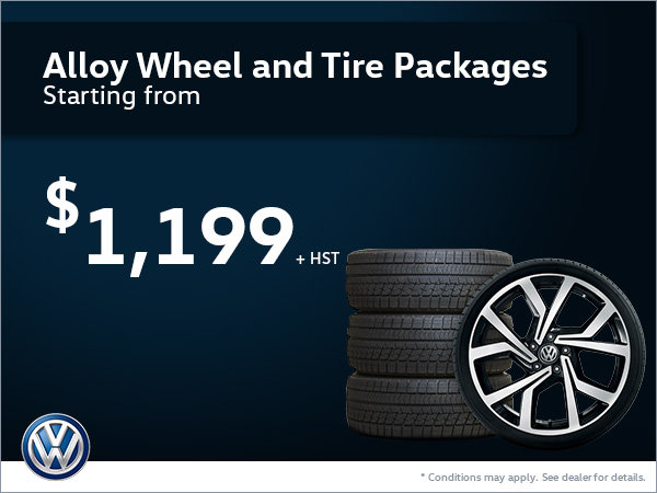 Alloy Wheel and Tire Packages Starting from $1,199!