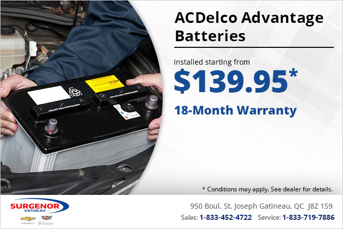 Get ACDelco Advantage Batteries Installed!