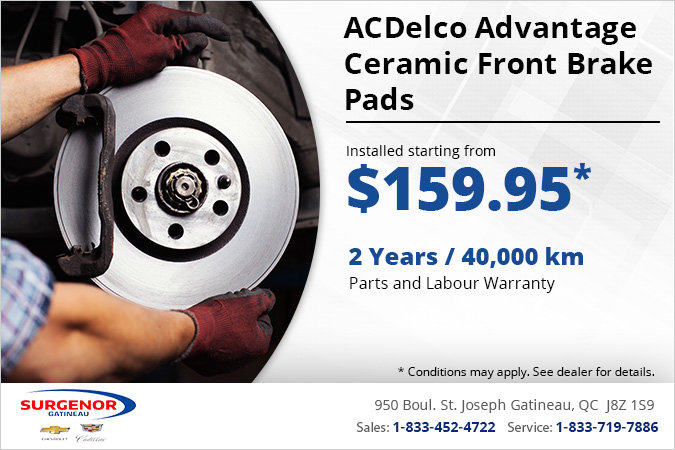 Get ACDelco Advantage Ceramic Front Brake Pads Installed!