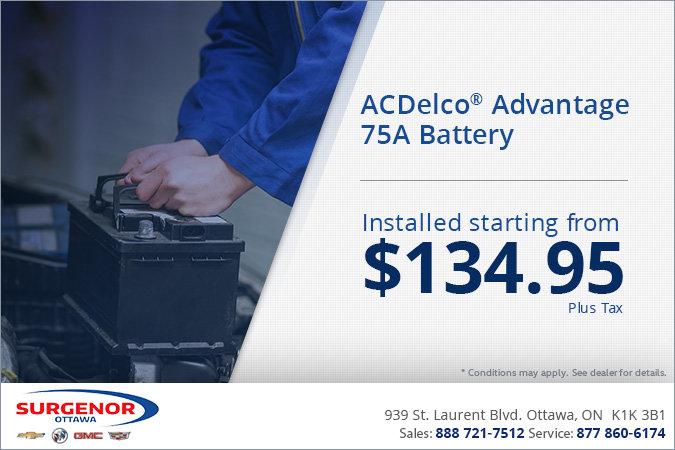 ACDelco Advantage 75A Battery