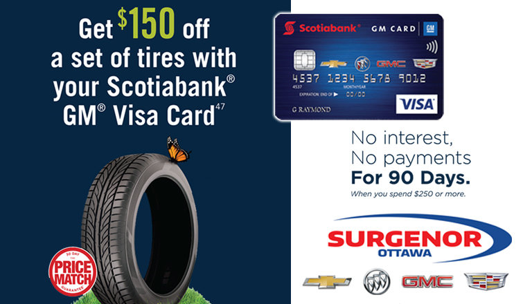Ottawa | 150$ off a Set of tires Promo