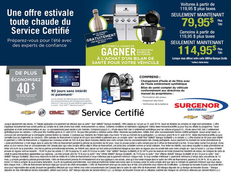 Une offre Estival Toute Chaude du service Certifié