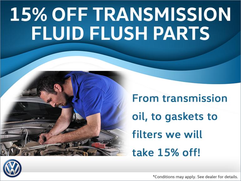 15% Off Transmission Flush Parts
