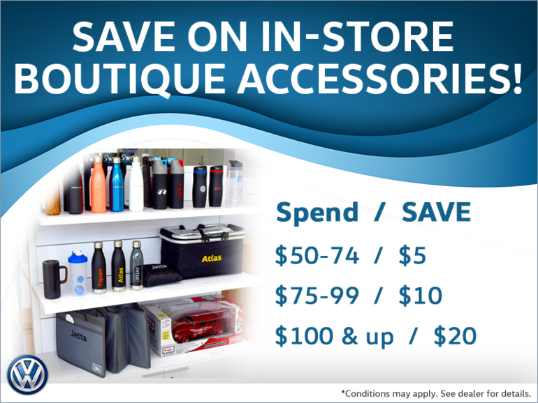 Save on VW Boutique Accessories