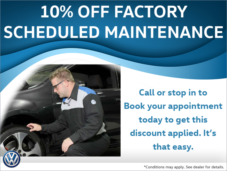 10% Off Factory Scheduled Maintenance