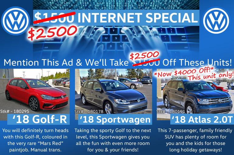 $2500 Instant Internet Discount!